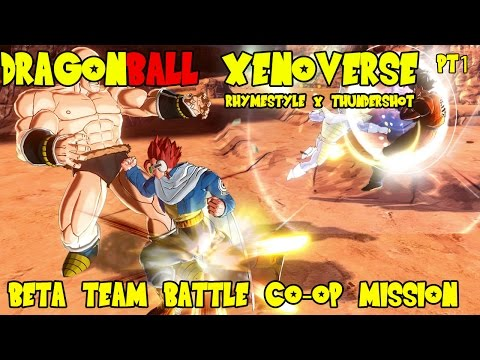 Dragon Ball Xenoverse Beta: Team Battle Co-op Mission w/ Thundershot 69 pt1