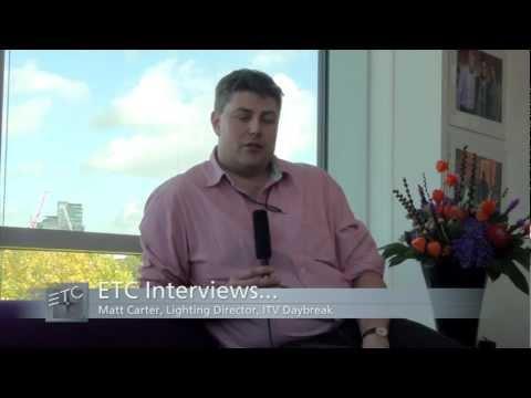 ETC Selador at ITV Daybreak TV studio, London, UK
