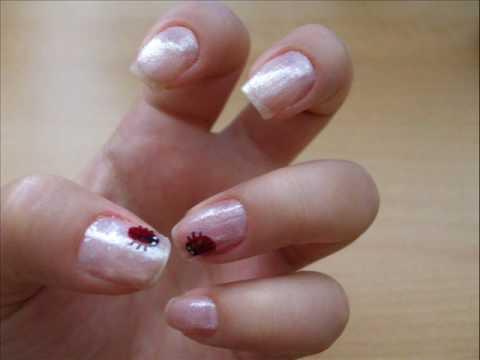 Ladybug nail art tutorial - YouTube