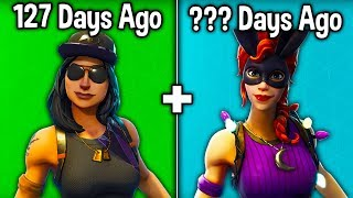 7 MORE RARE SKINS WE HAVEN'T SEEN IN 100+ DAYS! (Fortnite Skins Becoming Rare)