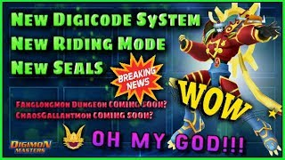 ★ Fanglongmon Dungeon , New Digivices & More... SOON? || New Digicode System & Susanoo Ride ARRIVED!