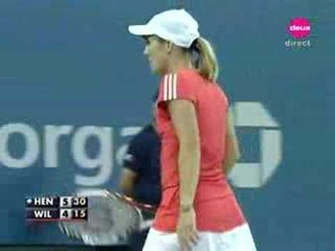 Justine Henin vs Serena Williams QF 2007 5/11
