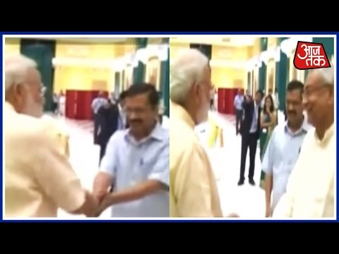 PM Narendra Modi Greets Delhi CM Arvind Kejriwal And Bihar CM Nitish Kumar