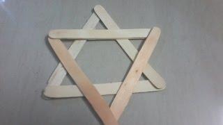 Madhu artscrafts viyoutube diy how to make starninja star using popsicle sticks ice cream sticks ccuart Gallery