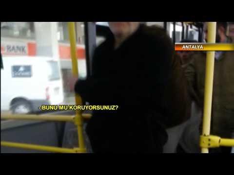 Antalyada halk otobüsünde parfüm dayağı
