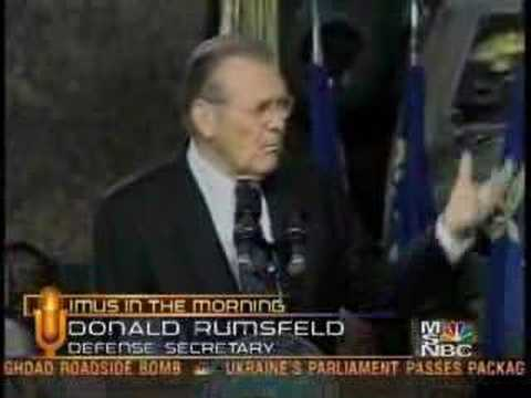 Rumsfeld: YOu go to war with the army you have