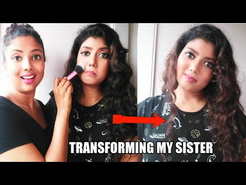 Makeup challenge on my sister  || dekhiye kya se kya bana daala