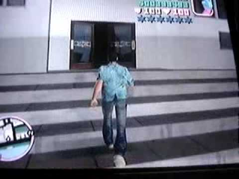 Robando un banco en gta vice city