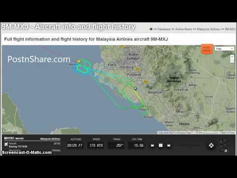 Malaysia Airlines Flight MH192 4 Hours Turned Around Full Radar Playback