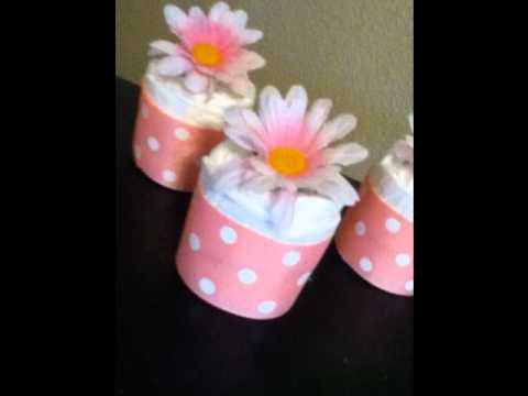 More Baby Shower Gifts-Diaper Cakes-Diaper Cupcakes
