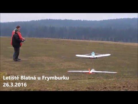 První RC aerovleky 2016 - Letiště Blatná u Frymburku 26.3.2016