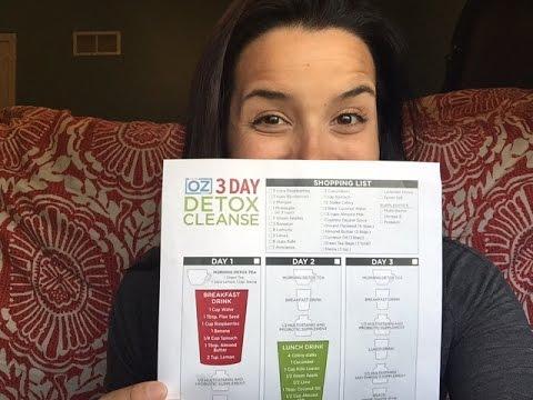 Dr. Oz 3 Day Detox Cleanse