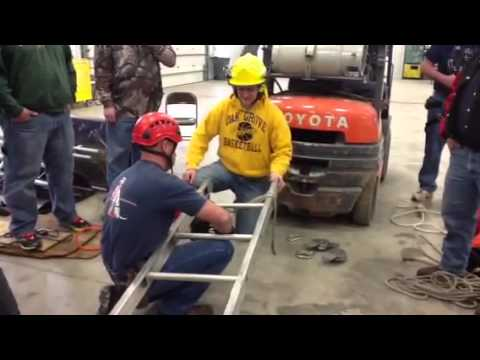 South Central College grain bin rescue class