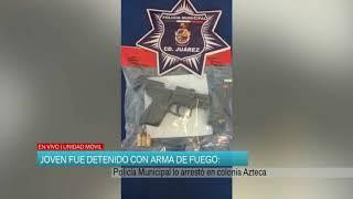Joven fue detenido con arma de fuego