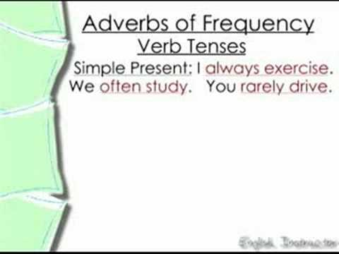 English Instructor 7, Adverbs of Frequency, anthonyhalderman
