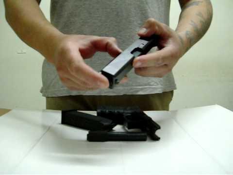 Glock desarme y cambio de cañon .357 Sig a .40S&W.