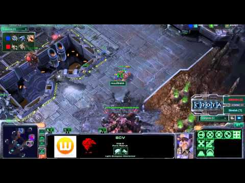 StarCraft 2 - SC225 - DIMAGA (Z) vs Strelok (T) on Scrap Station Video