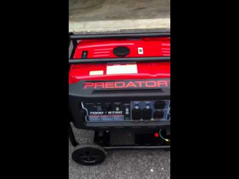 Harbor Freight Predator 8750 Running w/Wheel Kit Installed