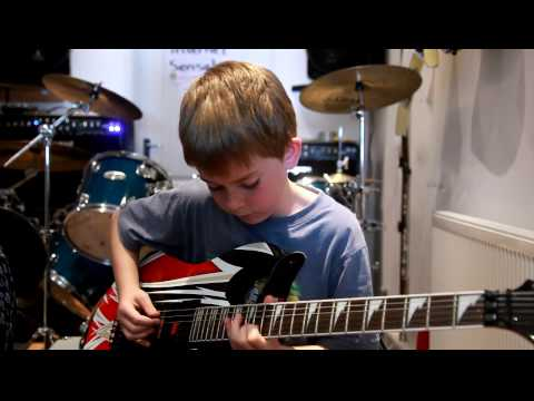 11 Year Cameron Plays Jerry C 's Canon Rock, video