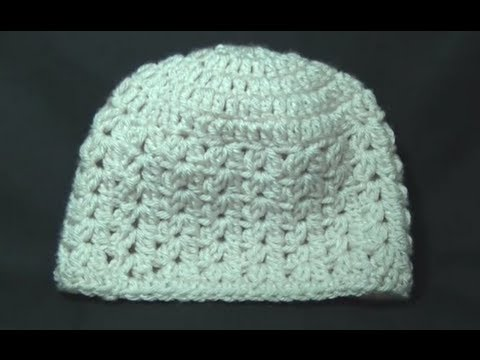 Cluster V Stitch Hat Crochet Tutorial - YouTube
