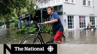 Storm Barry spares New Orleans, heads inland