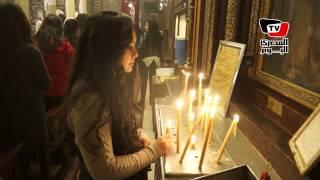 مراسم احتفال الأقباط بعيد الميلاد في الكنيسة المعلقة