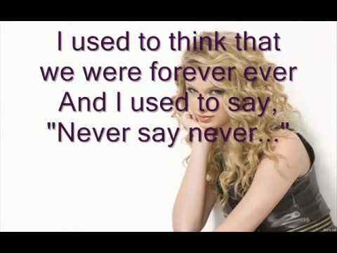 Taylor Swift - We Are Never Ever Get Back Together LYRICS on Screen