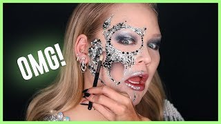 APPLYING 1000+ DIAMONDS ON MY FACE FOR HALLOWEEN! | NikkieTutorials