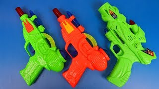 Music Toys from the Box - 3 Colorful Toy Guns! Indian Plastic Toys Equipment Video for Kids