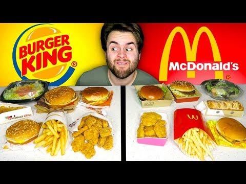 McDONALD'S vs. BURGER KING - Fast Food Restaurant Taste Test!