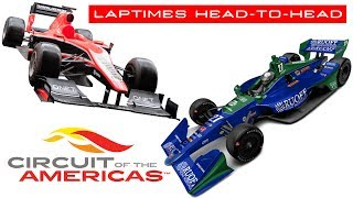 F1 vs IndyCar (and others) at Circuit of the Americas