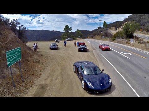 Jerry Seinfeld's Porsche 918 Spyder in Malibu, California
