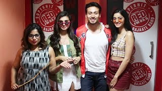 Tiger, Tara & Ananya competing for Student of RED FM Trophy with Teacher Malishka   SOTY 2