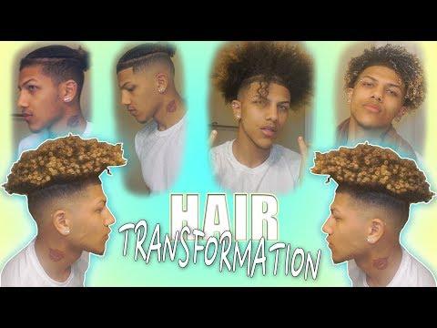 Full Hair Transformation From Braids To Curls (Bald Fade Haircut)