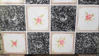 New Creative Tile Type Wall painting design | Asian paints interior 2019