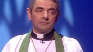 Rowan Atkinson (Mr Bean) in religious comedy sketches