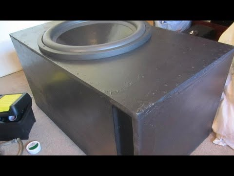 Sub Woofer Enclosure L For 1 18 Inch Sub L 5 1 Cubic Feet