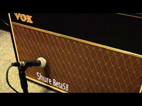 Amp Mic Comparison (Shure SM57, Shure SM58, Shure Beta58, Electro-Voice N/D767a On Vox AC30)