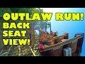 Outlaw Run Roller Coaster Back Seat View Silver Dollar City Branson MO