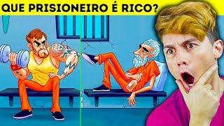12 ENIGMAS ANIMADOS PARA TESTAR SUA MENTE ☆ 98,6% FALHA ☆