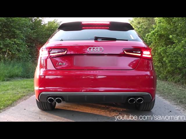2013 Audi S3 300 HP Launch Control, Engine Rev, Exhaust ...