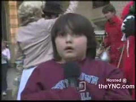 Kid scared to sing happy birthday on Kimmel Video