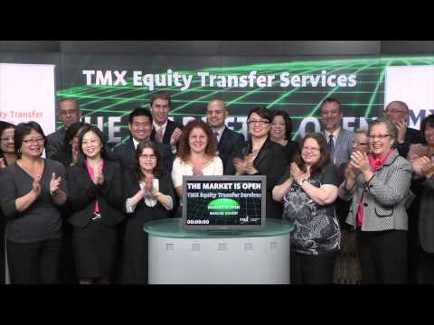 TMX Equity Transfer Services opens Toronto Stock Exchange, March 16, 2015