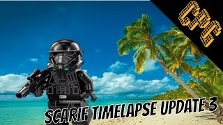 Lego Rogue One: A Star Wars Story Scarif MOC: Update 3 Timelapse