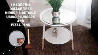 DOLLAR TREE DIY | $7 MIRROR SIDE TABLE