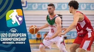 LIVE - Bulgaria v Georgia - FIBA U20 European Championship Division B 2019