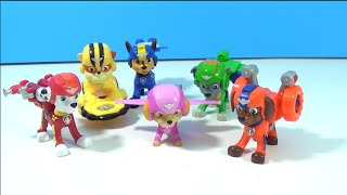 Paw Patrol Air Rescue Action Figures! * NEW * Chase, Marshall, Sky, Rocky, Rubble and Zuma