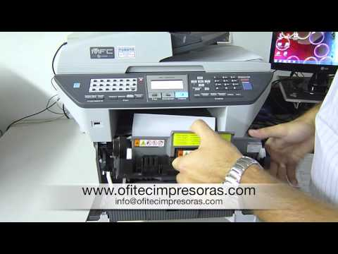 Atasco papel impresora laser multifunción 8880DN Brother
