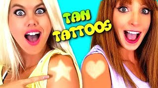 Cool Summer Tattoos & Lipstick Hacks & Challenge!!!