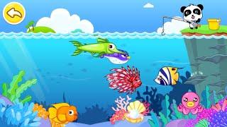 Baby Panda Happy Fishing - App Gameplay - BabyBus Games for Kids